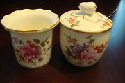 Royal Crown Derby England Open Sugar And Jam/mustard Bowl With Spoon [88c]