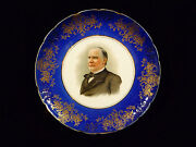 Knowles Taylor And Knowles Porcelain President Mckinley Commemorative Plate - 1902