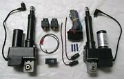2 Two Heavy Duty 2 Inch Linear Actuator And Wring Switch Kit 225lb 12 Volt Dc