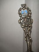 Vintage Advertising Curacao Enamel Country Shield Sterling Silver Letter Opener