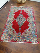 Antique Kashan Rug Good Condition Except Edges As Shown. 4and039and039x6. Local Pickup Ok
