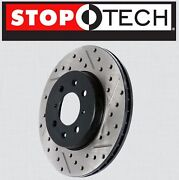 Front [left And Right] Stoptech Sportstop Drilled Slotted Brake Rotors Stf65116