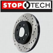 Front [left And Right] Stoptech Sportstop Cross Drilled Brake Rotors Stcdf65128