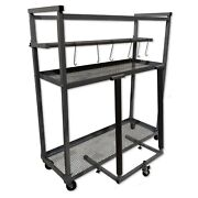 Champ Deluxe Shop Car Parts Rolling Rack With Metal Shelves 1429 - Tool Storage