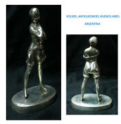 Old French Bronze Naked Lady On Panties Courtesan Car Mascot 6