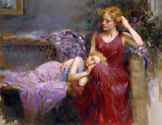 Pino A Motherand039s Love S/n W/coa Embellished Canvas 3200srp-offer