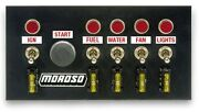 Moroso 74131 Steel Fused Toggle Switch Panels 7.75 Wide