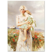 Pino Angel From Above S/n W/coa Embellished Canvas 3200srp-offer