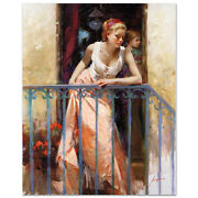 Pino At The Balcony S/n W/coa Embellished Canvas 4000srp-offer