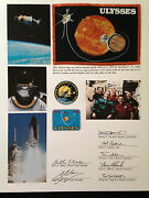 Space Shuttle Flown Flag Sts-41 / Ulysses Solar Probe Mission
