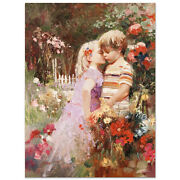 Pino The Kiss Revisited S/n W/coa Embellished Canvas 3200srp-offer