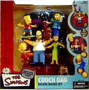 The Simpsons Couch Gag Box Figure Set New 2004 Factory Sealed Mcfarlane Amricons