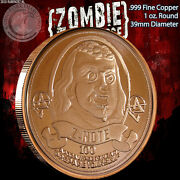 Z-note 100 1 Oz.999 Copper Round Part Of The Apocalypeze Series Limited And Rare