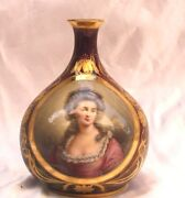 Magnificent 19 Century Austrian Royal Vienna Hand Painted Vase Signed