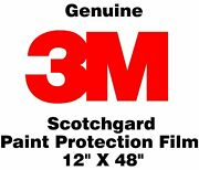 Genuine 3m Scotchgard Paint Protection Film Clear Bra Bulk Roll Film 12and039and039 X 48