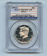 Kennedy Half 1999 S Pr69 Dcam Pcgs 50 Cent 90 Silver Proof Graded Coin C3b4