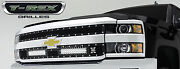 T-rex Torch Series Led Grille For 2015 Chevy Silverado 2500 3500 Hd 6311221 Blk
