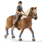 New Schleich 42113 Recreational Horse And Rider - Equine Riding Set - Retired