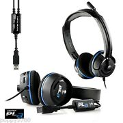 New Turtle Beach Ear Force Pla Gaming Headset For Ps3 Ps4 Windows Pc Mac Pro