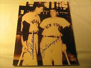 Signed Ted Williams And Joe Dimaggio 8x10 Photo Autograph Authentic [c4c]