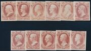 O83p3-o93p3 Complete Set War Dept Plate Proofs On India Paper Br7739