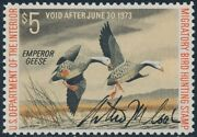 Rw39 Vf-xf Og Lh Signed By Stamp Artist Authur M. Cook Br8063