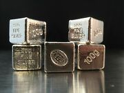 100g Hand Poured 999 Silver Bullion Bar By Yeagerand039s Poured Silver Yps - Cube