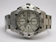 Tag Heuer Aquaracer Mens Steel Chronograph Day Date Style Caf2011