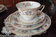 Lee Dresden C1930s F And B Japanmeito 4 Pieces Cupsaucercakedessert Plate