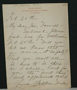 1800and039s Minnie Maddern Fiske Signed Hand Written Letter On Ny Dramatic Mirror Lh