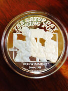 Norman Rockwell Saturday Evening Post Collectors Silver Coin- No Swimming