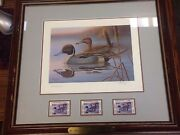 1986 New Jersey Waterfront Stamp Pintails First Of State Print Ronald Louque