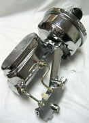 7 Rod Power Booster W/ Smooth Master Cylinder And Disc Disc Prop. Valve Chrome