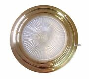 Victory Aa00542tn 5-1/2 Brass Dome Light Red And White Xenon 4 Lens 135-847