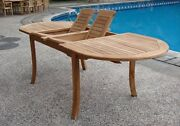117 Oval Table - A Grade Teak Wood Garden Outdoor Dining Furniture Pool Patio