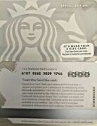 2014 Starbucks White And Silver Siren Gift Card 6107 Limited Edition No Value