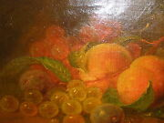 Listed George Forster 19thc Still Life W/ Fruits Oil Painting Records Up 66000