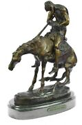 Antique Style Armor Bronze End Of Trail Native American On Horse Bookend Sale