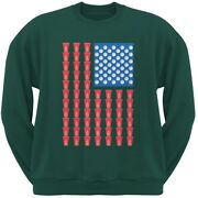 St. Patricks Day - American Flag Party Cups Forest Green Adult Sweatshirt