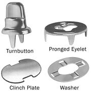 Stud Single Two Prong Clinch Clinch Plate Eyelet And Washers Fasteners 300 Pcs