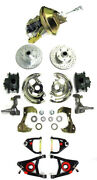 1964-72 Chevy Chevelle Power Disc Brake Conversion Kit + Tubular A Arms Slotted
