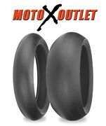 Shinko Slick Road Race Motorcycle Tires 008 120/60-17 And 180/55-17 Front And Rear