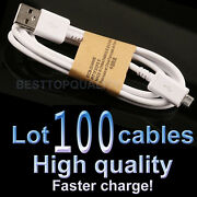 Wholesale Lot 100x Micro Usb Sync Data Charger Cable For Samsung Galaxy S4 S3 S2