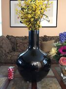 Very Large And Massive Chinese Mirror Black Porcelain Vase Qing 清朝乌金釉天球瓶
