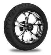 Performance Machine 17 Rear Black Luxe Wheel Tire Package Harley 09-15 Abs