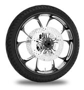 Performance Machine 21 Front Black Luxe Wheel Rotor Package Harley 08-16 Abs