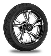 Xtreme Machine Cruise Xquisite 17 Rear Wheel 200 Tire Package Harley 09-15 Abs