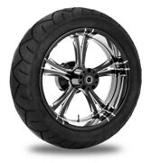 Xtreme Machine Fierce Xquisite 17 Rear Wheel 200 Tire Package Harley 09-15 Abs
