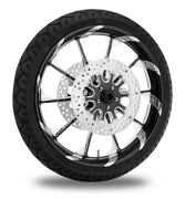 Xtreme Machine Launch Xquisite 21 Front Wheel Tire Rotor Package Harley 14- Abs