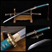Top Quality Japanese Military 98 Type Samurai Sword Clay Tempered Folded Steel